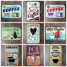 EW! 3pcs/lot Vintage Style Coffee & Pub Tin Sign 20x30cm Retro Metal Paintings Tin Sign Wall Decor Picture Metal Craft Sign(China)