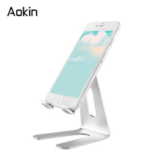 Aokin Phone Holder Universal Flexible Desk Stand for iPhone Desk Mobile Phone Stand for Xiaomi Samsung iPad Tablet PC Holders(China)
