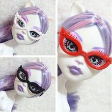 10pcs/set Dolls Accessories Mini Plastic Glasses For Monster High Dolls For Barbie Dolls 1/6 Doll House Kids Toy Party Glasses(China)