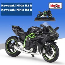 Maisto 1:18 KAWASAKI NINJA H2 R black Die-casts model bike Collection For Children Gift