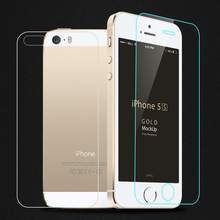 2PCS= Front + Back Screen Protector Tempered Glass For iPhone 5S 5 SE 6 6S 7 Plus 6Plus 4 4S Explosion Proof Protective Film