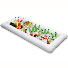 134x64cm PVC Inflatable Water Toys Infltable Buffet & Salad Ice Tray Food Cooler Drink Holder Fun Pool Floats Swimming Float(China)