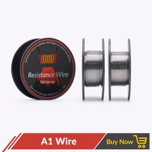 Volcanee 30feet/roll Heating Coil Wire A1 22 24 26 28 30 32 GA Resistance wire Electronic Cigarette Wire for DIY RDA RBA RTA(China)