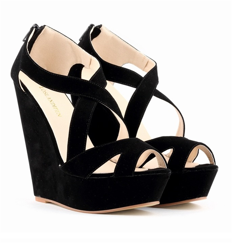 Plus size women wedge platform sandals 2017 summer new high-heeled shoes women shoes fashion banquet<br><br>Aliexpress