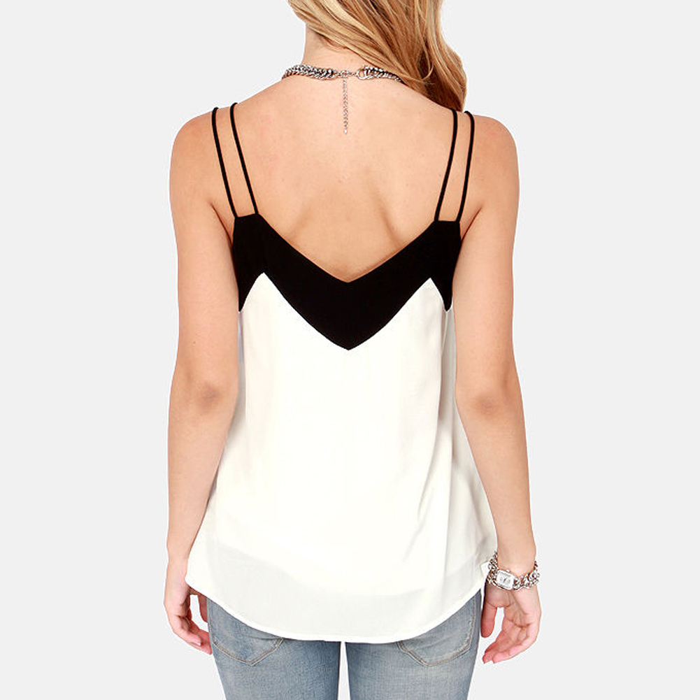 Anself 5XL Plus Size Women Blouse 2017 Sexy V Neck Casual Summer Chiffon Blouse Sleeveless Shirts Backless Tops Blusas Femininas 8