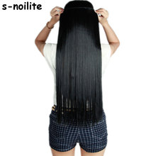 S-noilite Fall to waist 46-76 CM Longest Clip in for human Hair Extensions One Piece Real Natural Thick Synthetic hair Extention(China)
