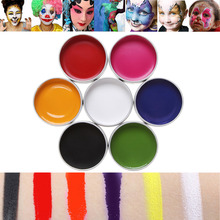 7 Colors Flash Tattoo Face Body Paint Oil Painting Art Halloween Party Fancy Dress Clown Cosplay Makeup Pigment Drawing Tool(China)