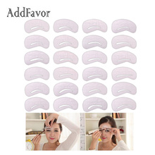 Addfavor 24 Styles/Set Eyebrow Grooming Card Eyebrow Stencils Magic Eye Brow Shaping Template Beauty Accessories Makeup Tools