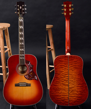 Hummingbird acoustic guitar, solid spruce top, quilted maple back and side, immediately shipping