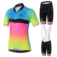 MILOTO Summer Women's Cycling Clothing Maillot Ciclismo Short Sleeve Bicycle Clothing Breathable Bike Jersey Cycling Jersey Sets(China)