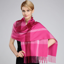 Fashion Winter Women's Scarves Hot Sale Thicked Warm Cashmere blended Scarf Women Plaid Scarf For Women Winter Autumn Scarf
