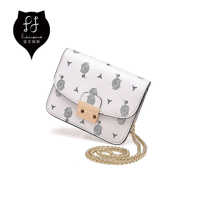 FULANPERS Printing Fashion Shoulder Bag For Women 2017 Flap Messenger Quilted Leather Crossbody Bags for Teenager Girls<br>