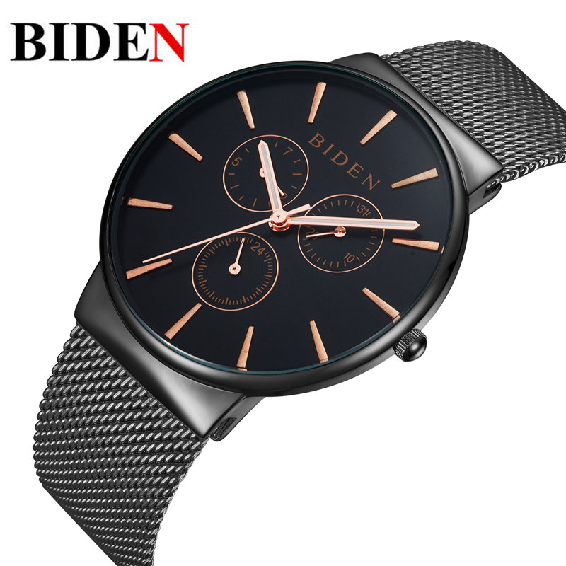 Fashion simple stylish Top Luxury brand Watches men Stainless Steel Mesh strap band Quartz-watch thin Dial Clock man 2016<br><br>Aliexpress