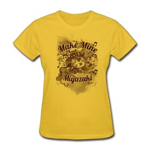 Funny 100 % Cotton Make Mine Miyazaki Women t-shirt Cheap Price Women's t shirts(China)