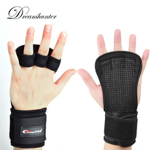 1 pc Adjustable wrist Support silicone non-slip sports Weight training hand palm extended half finger dumbbell palm equipment(China)