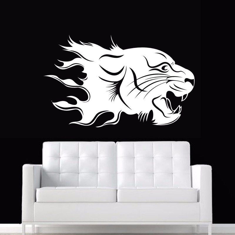DCTAL Jaguar Wall Sticker Tiger Decal Posters Vinyl Wall Art Decals Pegatina Car Decal Decor Mural Animal Sticker