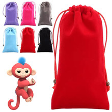 2017 funny Dolls Portable Kids Play Bag Toys Rug Box For Fingerlings Monkey toy B# dropshipping D5