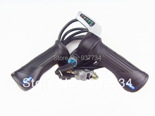 Discount handle grips for scooter 24V / 36V /48V electric bike scooter throttle with ignition lock G-L081(China)