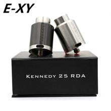 E-XY Newest Kennedy 25 RDA 1:1  Rebuildable Atomizer 25mm Diameter wide drip tip rda vs Kennedy 22 E Cigs Box Mod Vaporizer