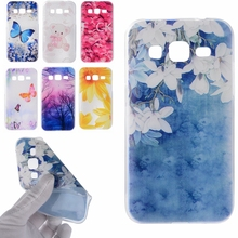 Rose Sunflower Bear Butterfly Design Soft TPU Case Cover sFor Samsung Galaxy Core Prime G360 G360H Transparent Cell Phone Bags