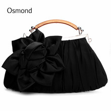 Osmond Solid Design Evening Bag Flower Bride Bags Purse Full Dress Party Handbag Wedding Clutch Women Party Purse Lady Gift 2017