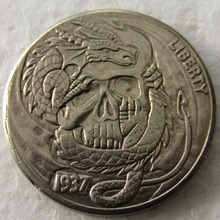 BU(17)Hobo Nickel 1937-D 3-Legged Buffalo Nickel Rare Copy Coin High Quality(China)