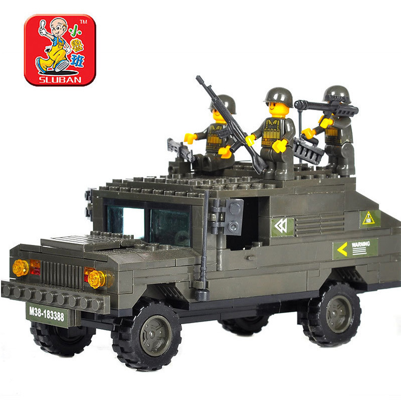 Sluban Military Army Humvee Building Blocks set Bricks Construction Enlighten Toys For Children Gift compatiable with gift <br><br>Aliexpress