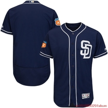 MLB Men's San Diego Padres Baseball Alternate Navy 2016 Spring Training Flex Base Authentic Collection Team Jersey(China)