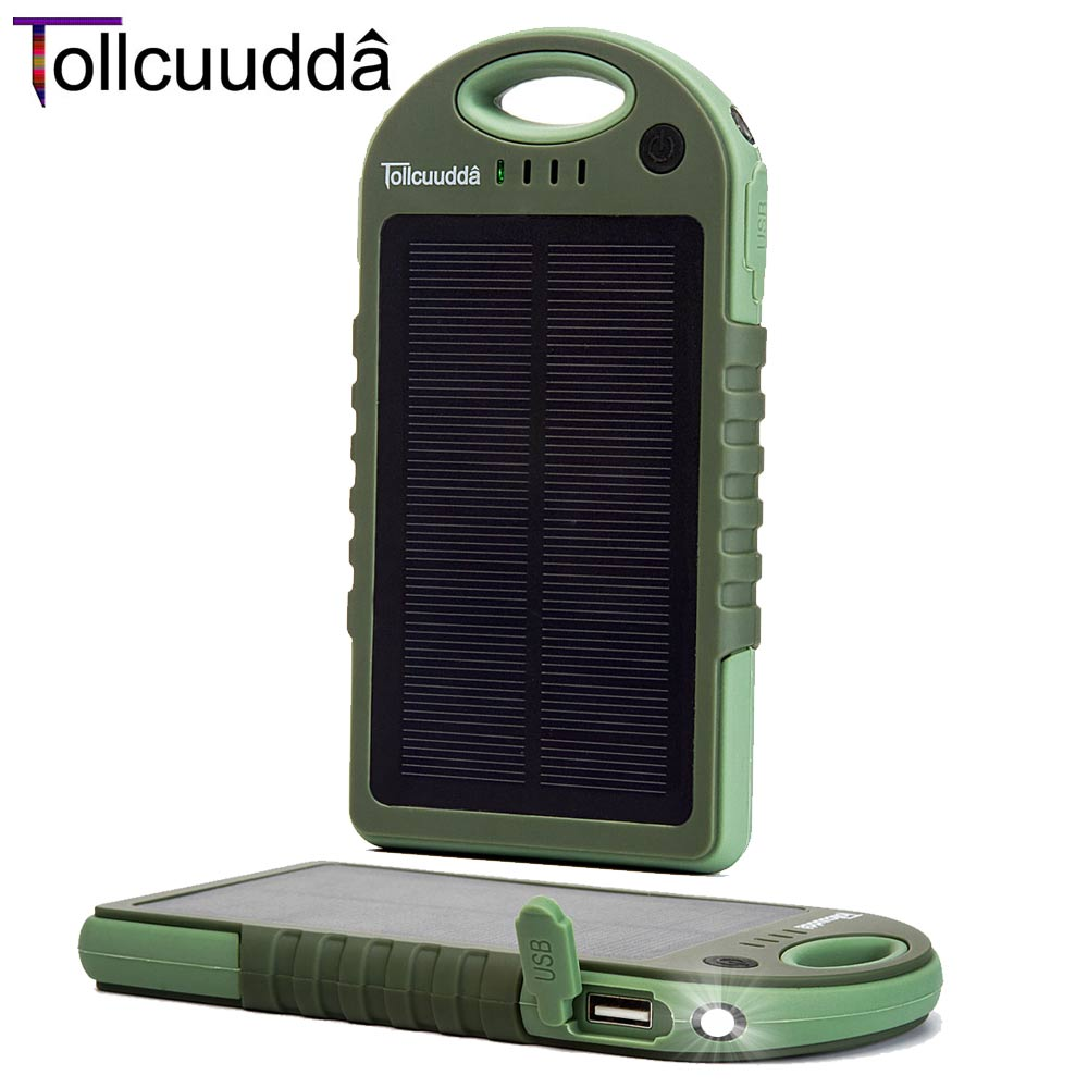 12000mAH Big Solar Panel Phone Powerbank Mobile Ba...
