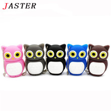 JASTER lovely Owl USB Flash Drive pen drive pendrive 4GB 8GB 16GB 32GB 64GB memory stick U disk 4 colors Free Shipping(China)