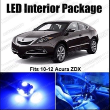 Free Shipping 4Pcs/Lot  car-styling LED Lights Interior Package Deal for Acura ZDX