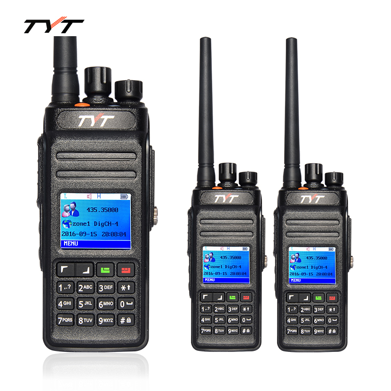 2pcs TYT MD398 DMR Digital Walkie Talkie MD-398 Two Way Radio 10W UHF 400-470MHz Waterproof IP67 Handheld FM Transceiver Radio(China)