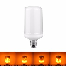 110V 220V E27 E26 LED Lamp Fire Flame Effect LED Bulb light Emulation Fire Flicker Burning Flameless lantern holiday Decor lamp(China)