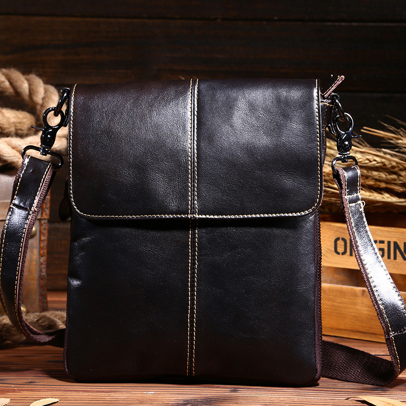 2017 New Brand Design Fashion Genuine Leather Men Bags High Quality  Casual Messenger Bags Vintage Shoulder Bags sacoche homme<br><br>Aliexpress