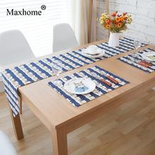 Nordic Simple Dining Table Runner Tea Mat Cotton Linen Placemats Table Flags Christmas Decorative Wedding Gift Chemin De Table(China)