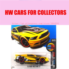 Hot Sale Hot 1:64 cars Wheels 2016 ford mustang Gt yellow cars Models Metal Diecast Car Collection Toys Vehicle For Children(China)