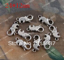 Sweet Bell  50PCS/lot 24*12mm button jewelry bags wholesale creative lobster clasp design restoring ancient ways lobster clasp