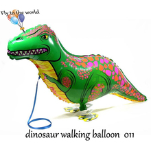 Dinosaure Walking Pet Balloons Animal dinosaure Foil Balloons Party Decoration Supplies Kids Toys 10pcs/lot Free shipping