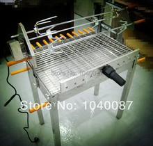 FREE SHIPPING stainless steel automatic charcoal BBQ ,motor BBQ,charcoal bbq barbecue grill