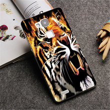 Fire tiger painting Hard phone Case Cover for Huawei P8 Lite P8 P9 P9 Plus & Mate 7 8 fashion Down Design