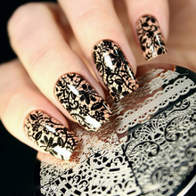 Born Pretty Chic Lace Pattern Nail Art Stamping Template Image Stamp Plate BP02 Nail Stamping Plates Nail Art Decorations