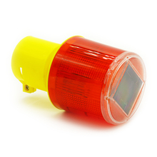 Solar Powered Traffic Warning Light LED Solar Safety Signal Beacon Emergency Alarm Lamp