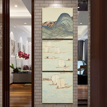 Canvas Print Japanese Ukiyo-e Sailing the Sea Painting Classical landscape Wall Art Picture 3 Pieces Artwork for Living Room Dec