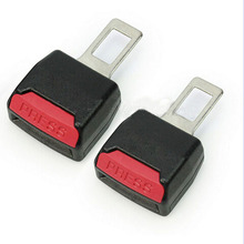 2PCS NEW Auto Car Seat Belt Buckle Adjustable High Strength Nylon Extender Strap Safety Buckle Clips