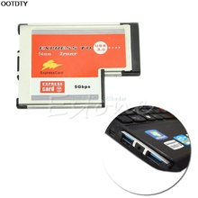 2 Port USB 3.0 EXPRESSCARD Expansion Card for Laptop - L059 New hot(China)