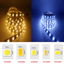 DC12V RGB LED Strip Light SMD5050 5630 3528 3014 2835 Fita Led string Ribbon tape Bar Neon New Year Christmas Decoration Lampada(China)