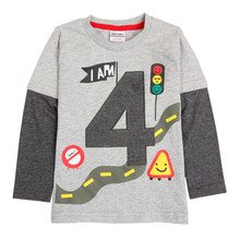Retail kids boys t shirts clothes nova kids factory sell new winter boy t shirts children garment kids wear nova clothes boy top(China)