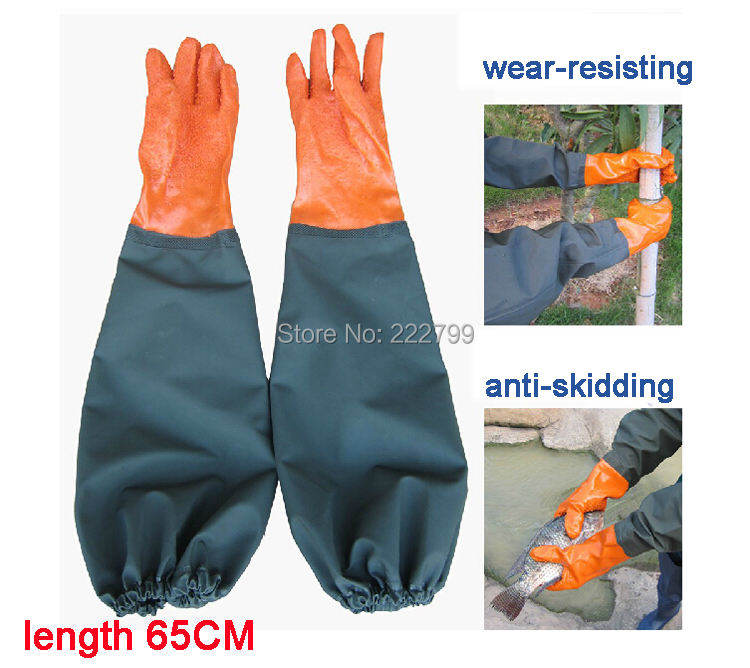 Lengthen thickening wear-resistant oil slip-resistant fish gloves waterproof winter gloves lining  free shipping<br><br>Aliexpress