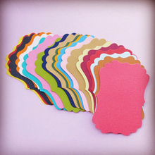 Mixed Colorful Gift Cards Tags with Swirl Edges for Scrapbooking Paper Crafts/Card Making/Wedding Decorations/Photo Album