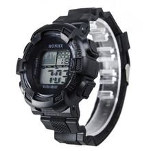 Relojes Masculino Watch Mens Stainless Steel LED Digital Date Alarm Waterproof Sports Army Silicone Band QuartzWatches Wholesale